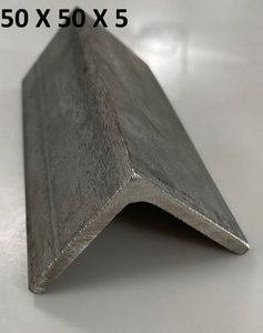 inox L-profiel 50 X 50 X 5 mm