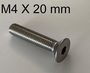 inbusbout conisch M4 X 20 mm