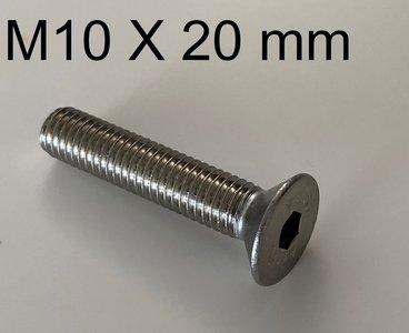 inbusbout conisch M10 X 20 mm
