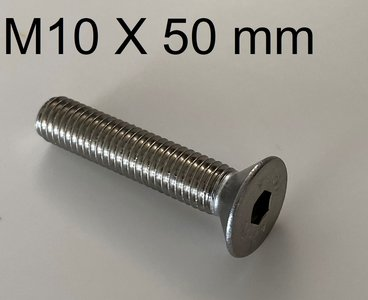 inbusbout conisch M10 X 50 mm