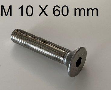 inbusbout conisch M10 X 60 mm