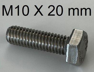 bout met 6 kant kop M10 X 20 mm